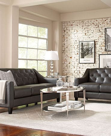 Leather Living Room Furniture Collection