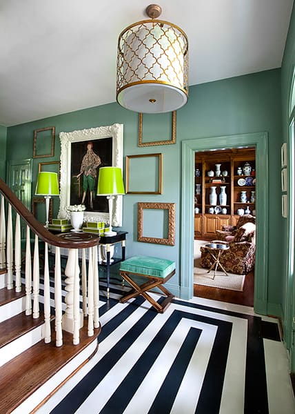 Twelve Beautiful Painted Floors Up To Date Interiors