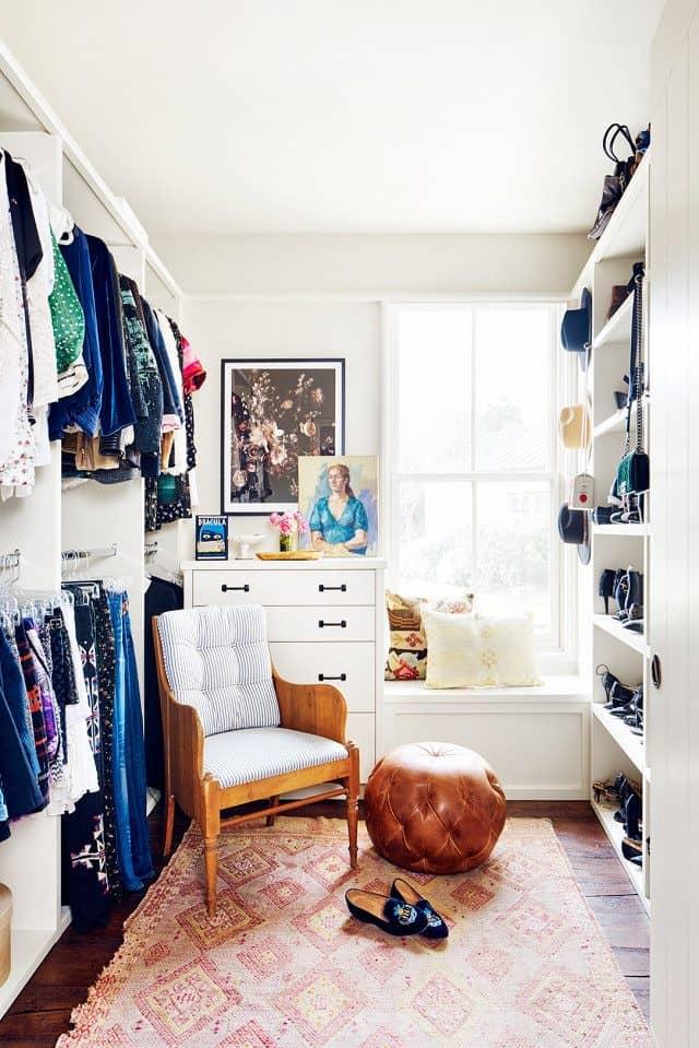 rug in walk in closet