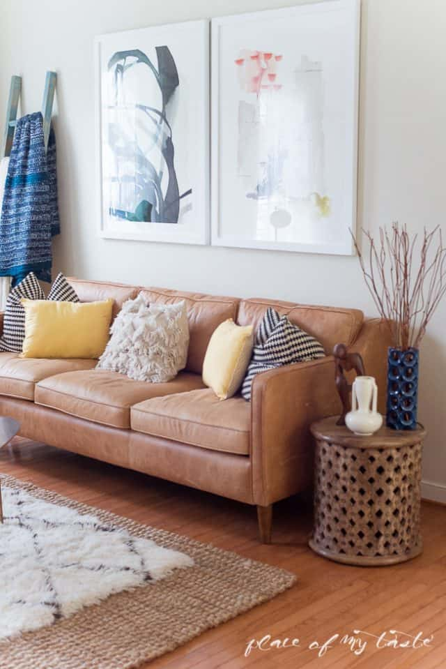 living room with rug