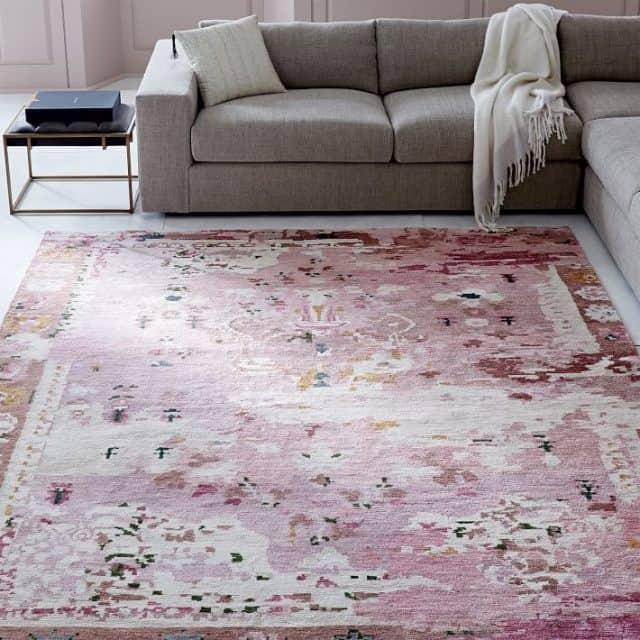 persian style rug pin in silk