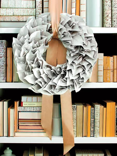 Southernliving bookcase wreath