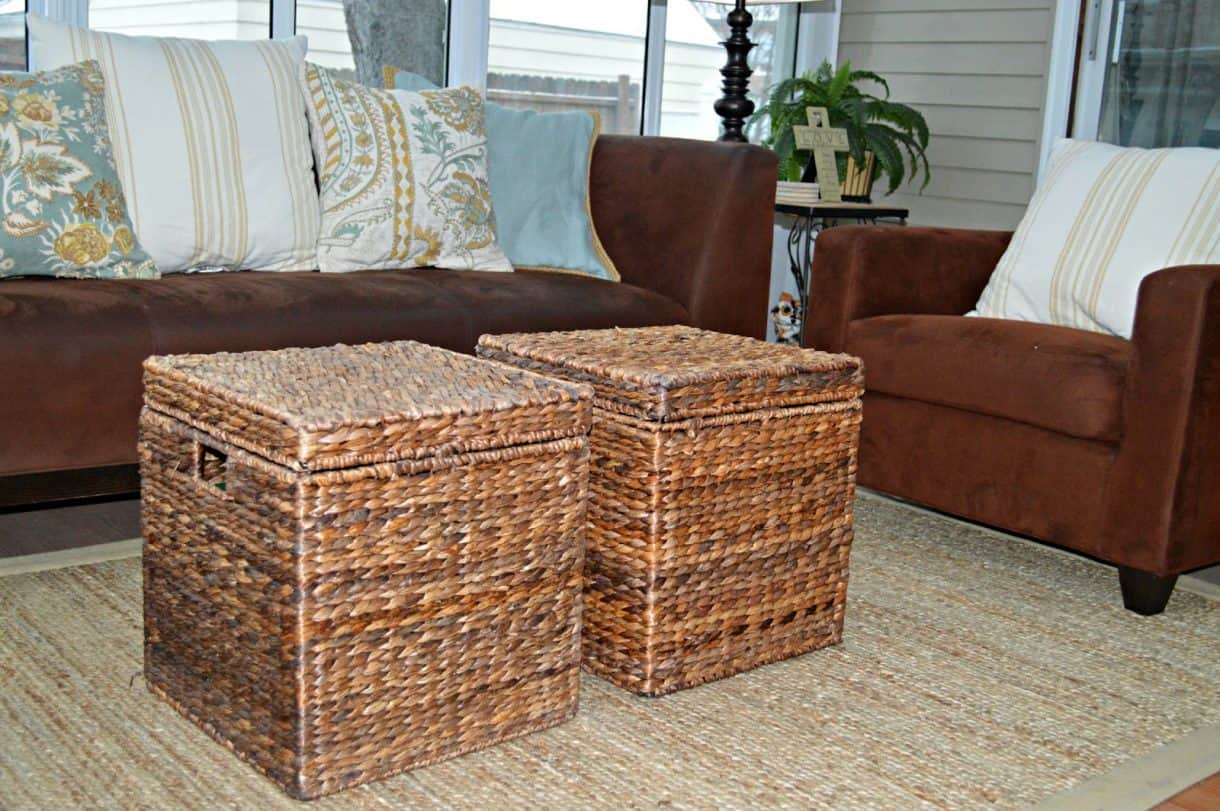 Table ottoman seagrass coffee table round seagrass coffee table trunk - Eight Tips For Renters Or For Anyone That Won T Break