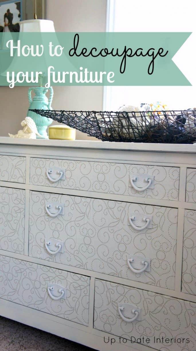 Dresser makeover change a piece of furniture with decoupage for A piece of furniture