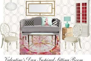 Valentine's Day Inspired Sitting Room