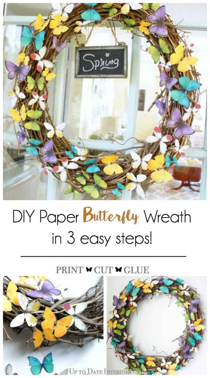 spring butterfly wreath in three easy steps