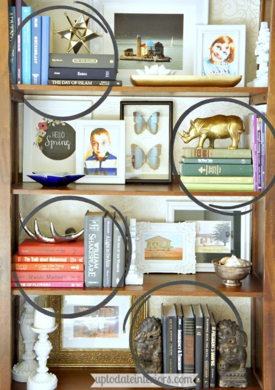 easy step by step styling for bookcases