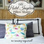 No-sew Hotel Inspired Pillow Shams