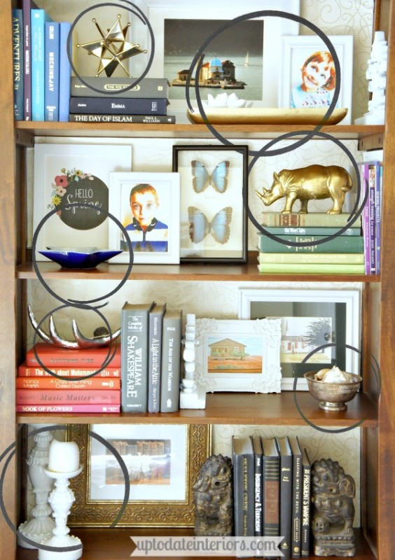 decorate your bookcase by thirds