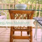 Outdoor Living Area: Furniture Makeover