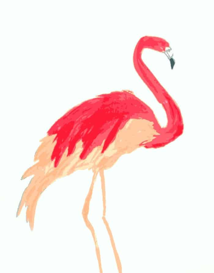 Flamingo Art {free printable} - Up to Date Interiors