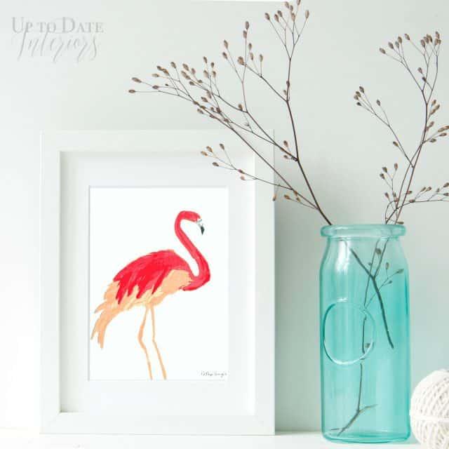free flamingo print