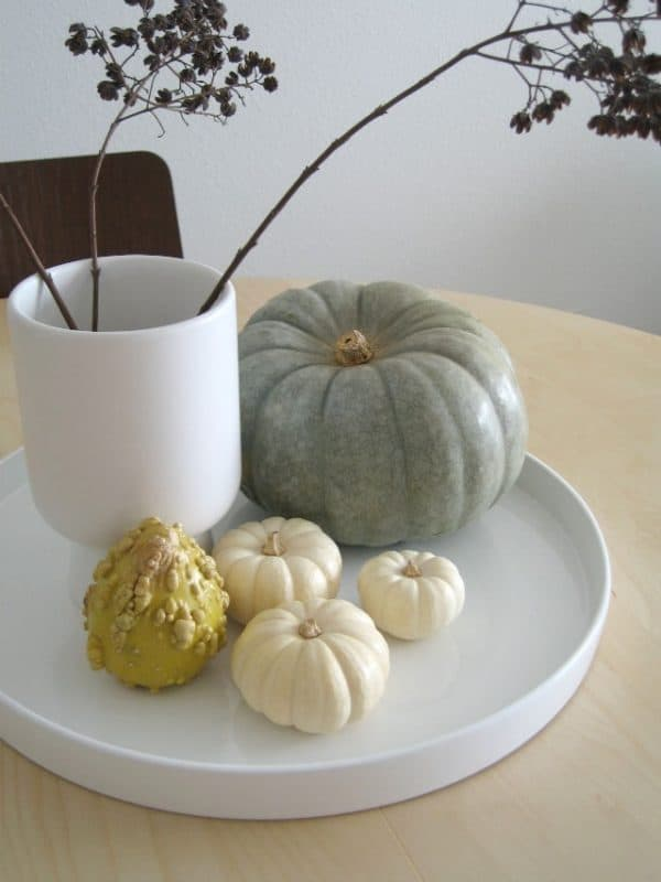 Modern fall decorating ideas up to date interiors for Modern fall table decorations