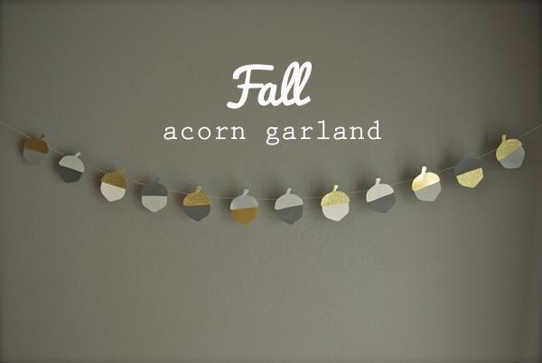 fall acorn garland 4