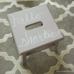 Stool Makeover with a Cheeky Message