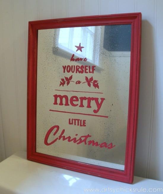 Antique-Mirror-Tutorial-Pottery-Barn-Inspired-Christmas-Sign-Complete-potterybarn-Christmas-antiquemirror-artsychicksrule.com_-