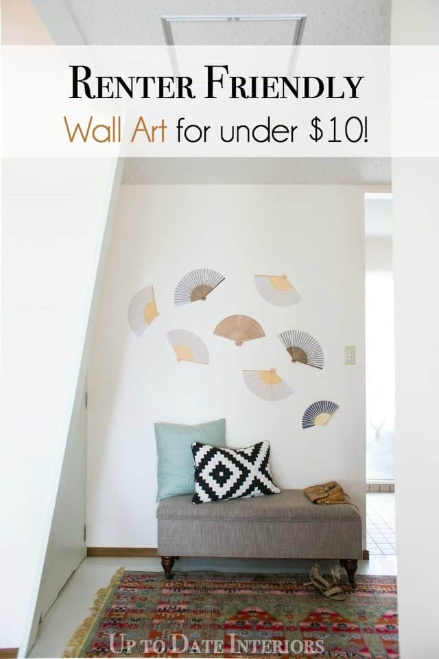 try this dollar store DIY for your rental decor wall art with no holes!