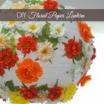 DIY Floral Paper Lantern and Summer Table Decor
