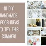 Handmade decor to try on that hot summer day!