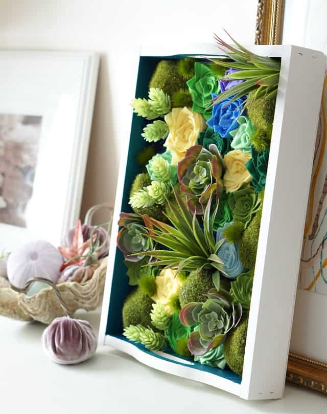 Create a faux living wall art for just a few dollars!