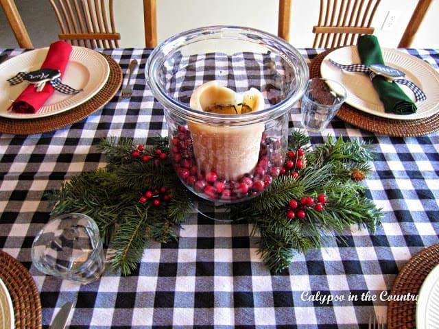 Christmas breakfast centerpiece