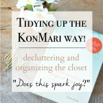 Decluttering and Organizing the Closet