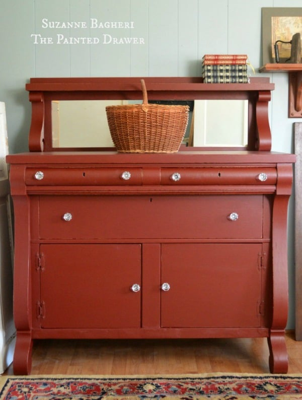 Vintage-Empire-Bureau-in-General-Finishes-Rembrandt-Red-paint-by-Suzanne-Bagheri