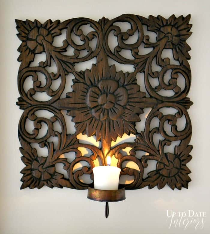 diy wood candle sconce
