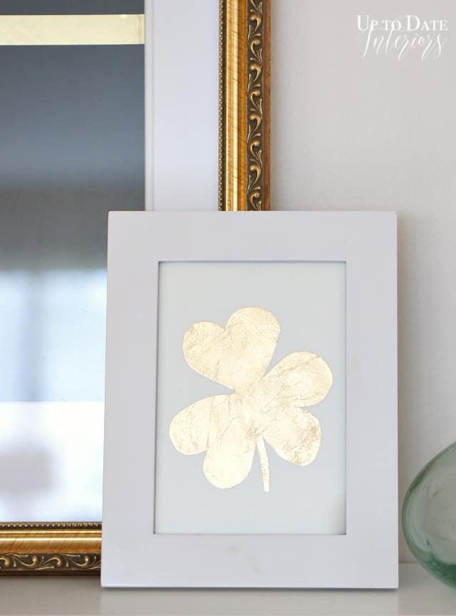 gold leaf shamrock art