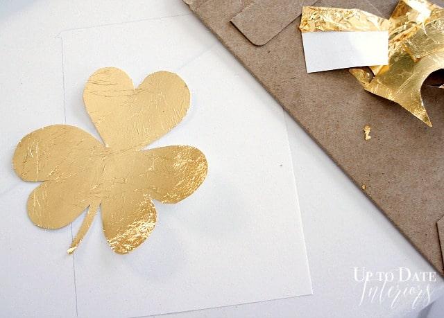 gold leaf shamrock