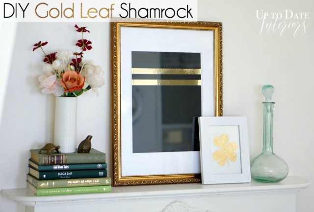 diy gold leaf shamrock clover