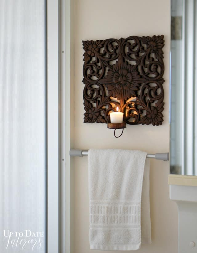 wood candle sconce inspired by world market