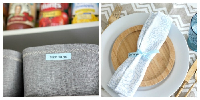 label maker ideas for organization and decor