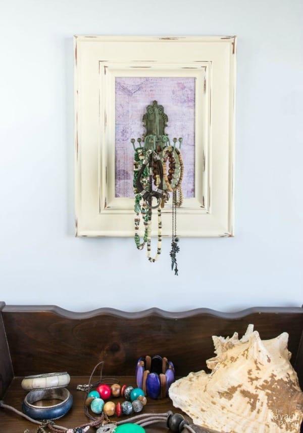 diy jewelry organizer wall art