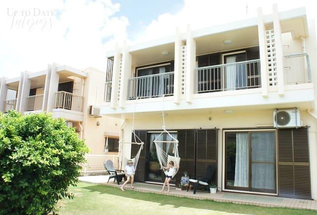 rental house backyard and patio