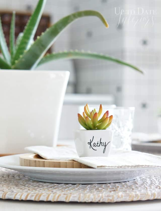 DIY succulent place card
