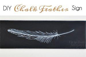DIY Fall Feather Chalkboard Art