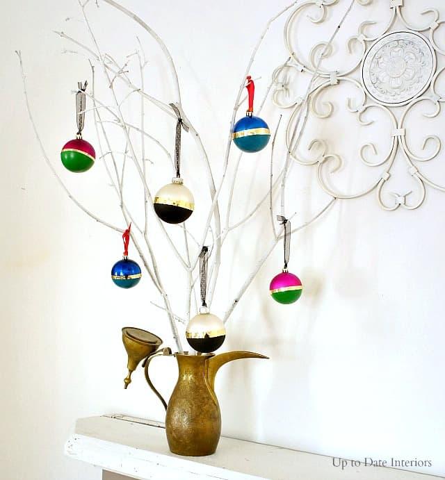 kate spade inspired ornaments DIY