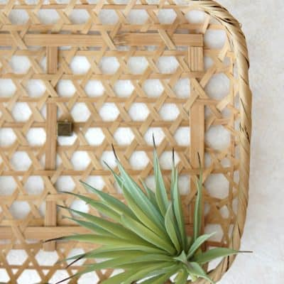 $100 Room Makeover:  DIY Wall Basket Art
