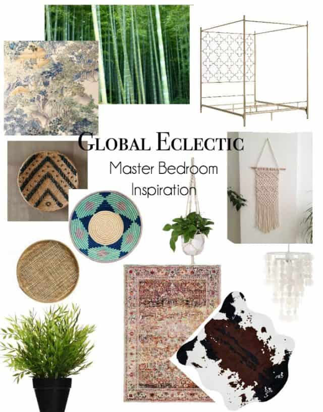 global-eclectic-master-bedroom-inspiration for $100 room makeover