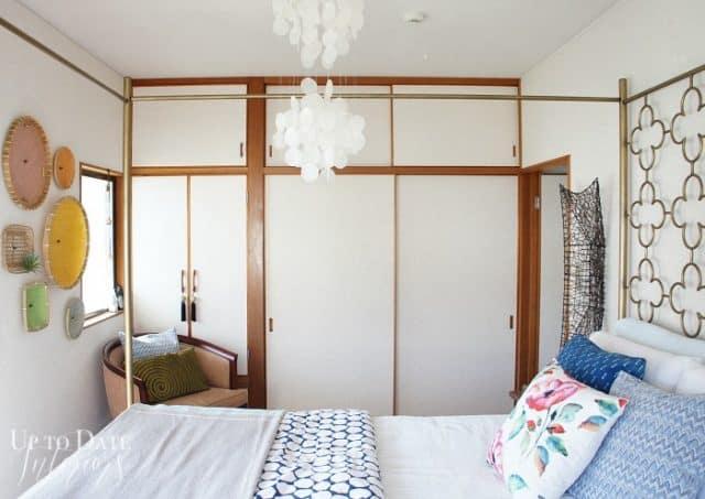 rental master bedroom makeover in Japanese home