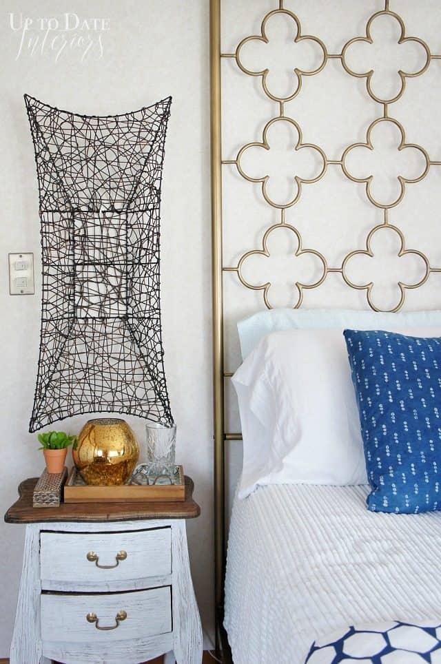 bedside table decor $100 room makeover