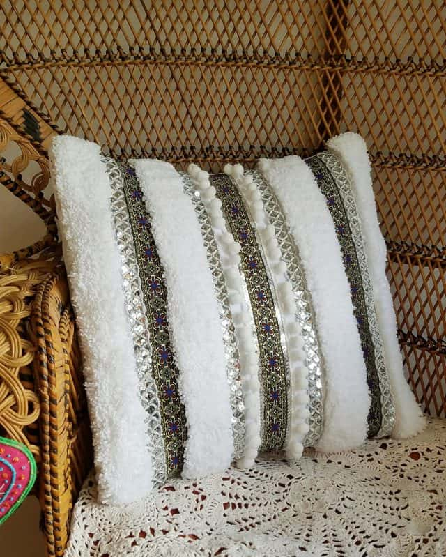 moroccan wedding blanket inspired pillow