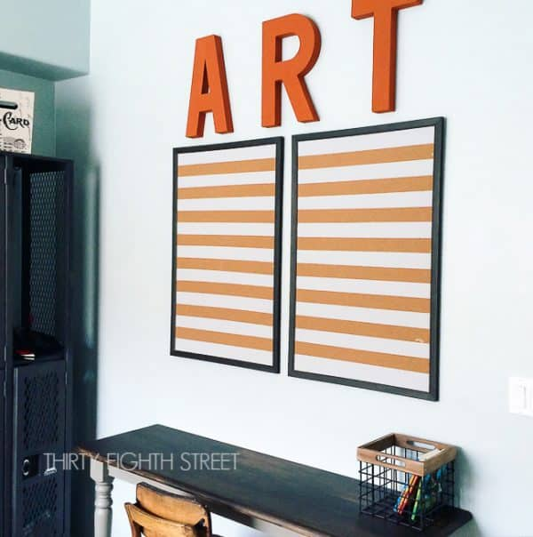 Great Way To Display Childrens Art
