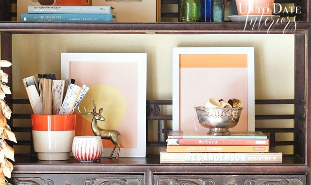 bookcase art and styling inspired by Wes Anderson