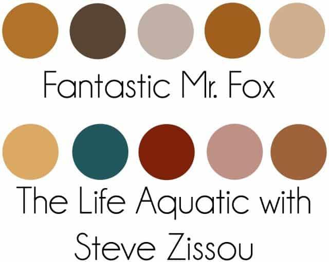 wes anderson color palettes