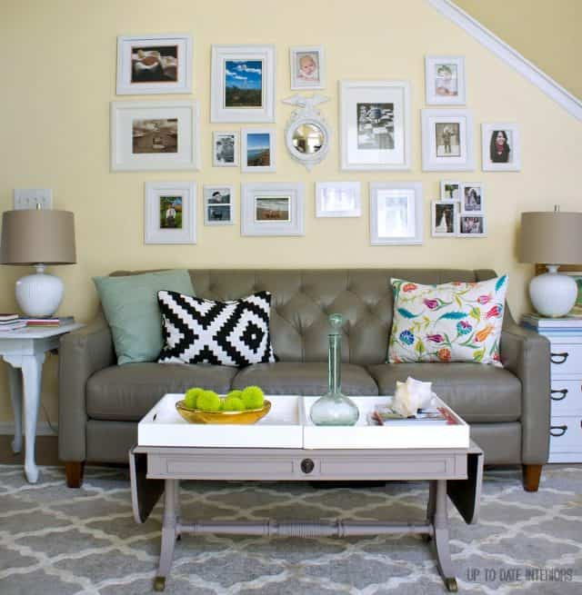 wall gallery in rental living room