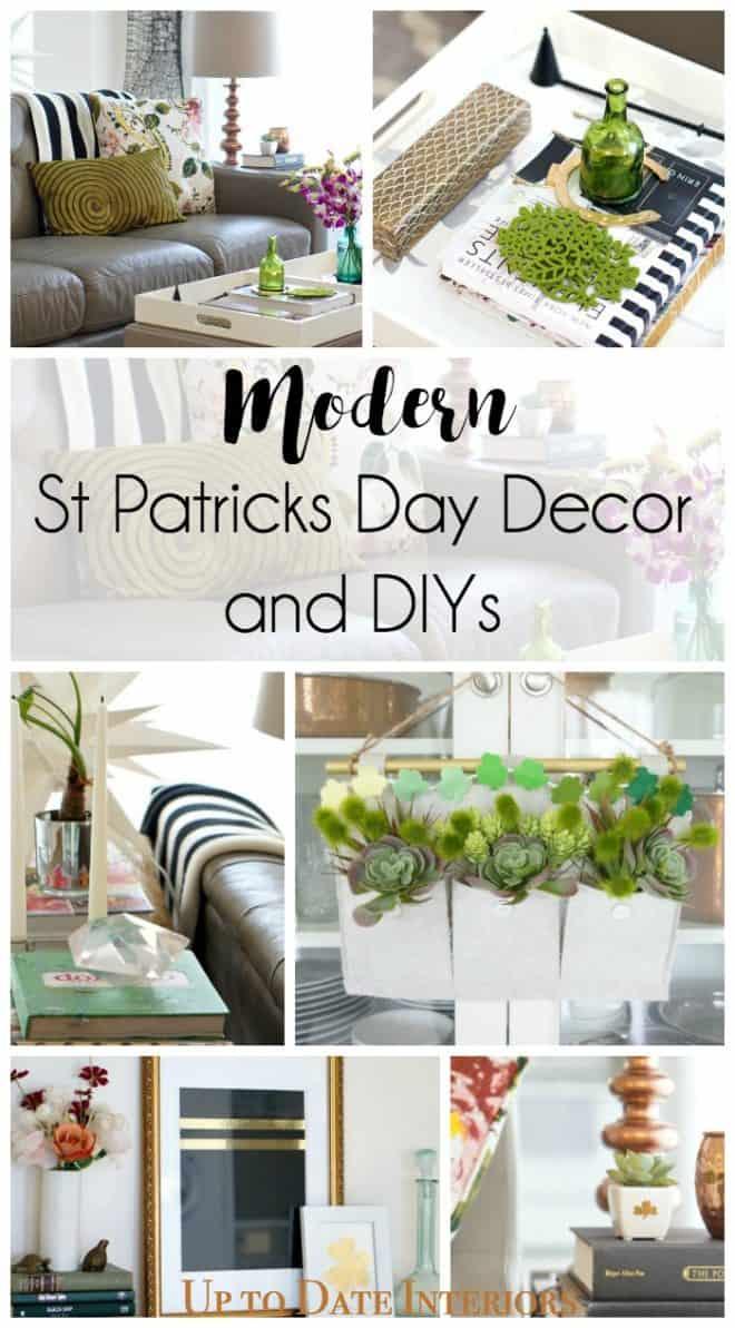 modern st patricks day decor and diys