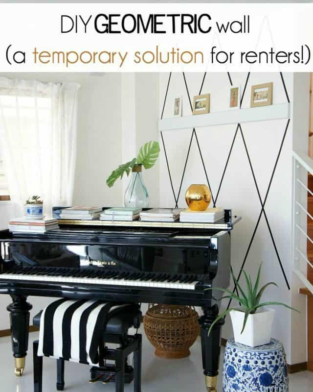 rental friendly decorating tips for walls with washi tape