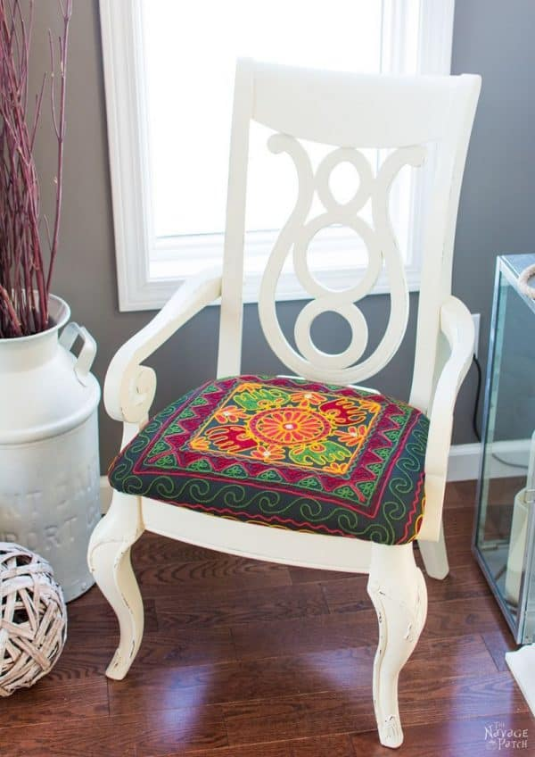 accent chair makeover in boho style!